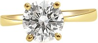 Surat Diamond 0.41 Cts H-I1 Solitaire Yellow Gold Diamond 18 K Ring