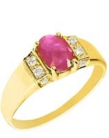 Fullcutdiamond FCDSWR7120R Yellow Gold Diamond 18K Yellow Gold 18 K Ring