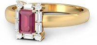 WearYourShine By PCJ The Rapheala Diamond Gold Diamond, Ruby, Emerald 18K Yellow Gold Plated 18 K Ring