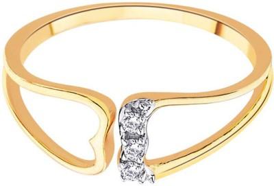30% OFF on D'damas Gold Diamond 18K Yellow Gold Plated 18 K Ring on  Flipkart | PaisaWapas com