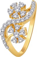 GlitzDesign 0.68 CTW Twin Orchid In A Wave Diamond Yellow Gold Ring