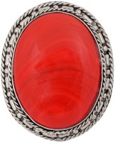 Crunchy Fashion Red Stone Cocktail Alloy Ring