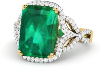 WearYourShine By PCJ The Menita 18kt Diamond, Emerald Yellow Gold Ring
