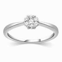 Kama Jewellery Genevra Diamond Engagement Platinum Ring Platinum Diamond Ring