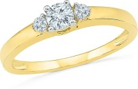 Radiant Bay Radiant Stone Yellow Gold Diamond 14 K Ring