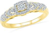 Radiant Bay For Forever Yellow Gold Diamond 14 K Ring