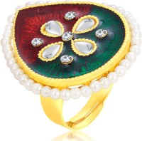 Sukkhi Youthful Designer Traditional Cocktail Gold Plated Alloy 18K Yellow Gold Ring