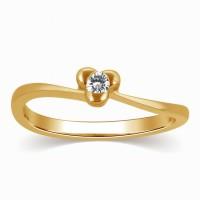 Kama Jewellery Molly Yellow Gold Diamond Yellow Gold 18 K Ring