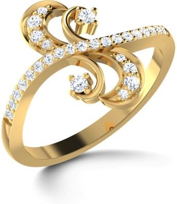 CaratLane Duo S Gold Diamond Ring