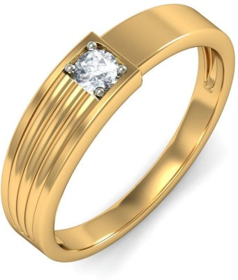 BlueStone The Enigmatic Overture For Her Yellow Gold Diamond 14 K Ring