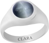 Clara Certified Lehsuniya 8.3 Cts Or 9.25 Ratti Bold Sterling Silver Cat's Eye Ring
