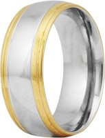 Vaishnavi Two Tone Shining Made Of 316l Surgical Stainless Steel Ring