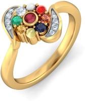 BlueStone The Ambar Kosh Yellow Gold Diamond 18K Yellow Gold Plated 18 K Ring