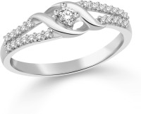 Classic Gift Rhodium Plated Ring For Women Size15 [CJ1061FRR15] Alloy Cubic Zirconia White Gold 18 K Ring