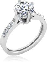 IskiUski Mesmeric Gold Swarovski Crystal Platinum Plated 14 K Ring