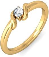 BlueStone The Love Clasp Yellow Gold Diamond 18 K Ring