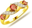 Surat Diamond Sparkling Diva Yellow Gold Diamond, Ruby Ring