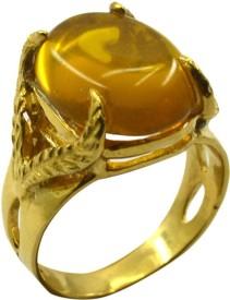 Riyo Copper Citrine Yellow Gold Ring