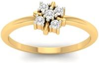 Jewels5 Adela Yellow Gold Diamond Rhodium Plated 18 K Ring