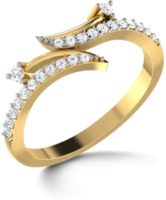 CaratLane Uno Loop Gold Diamond Ring