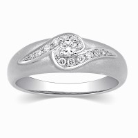 Kama Jewellery Ansie Diamond Platinum Ring PT950 Diamond Platinum Ring