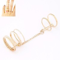 Cinderella Collection By Shining Diva Golden Alloy Ring Set