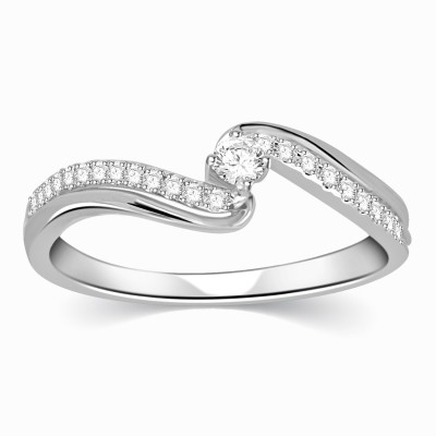 Kama Jewellery Franca Diamond Engagement Platinum Ring Platinum Diamond Ring