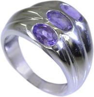 Riyo Resplendentstar Amethyst Sterling Silver Amethyst Ring