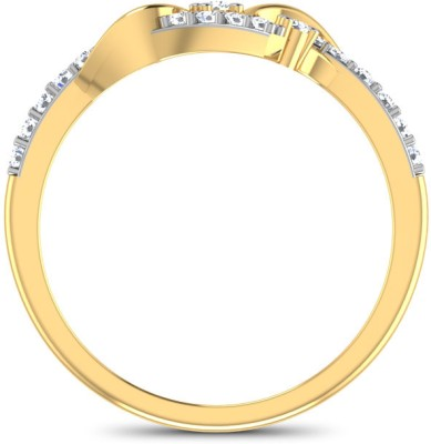 CaratLane Whirlpool Gold Diamond Ring