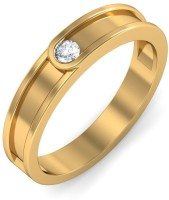 BlueStone The Clasped Band For Her Yellow Gold Diamond 18 K Ring