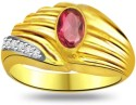 Surat Diamond Classic Ruby & Diamond Ring SDR1013 Yellow Gold Diamond, Ruby Ring