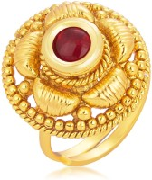 Sukkhi Ravishing Designer Traditional Cocktail Gold Plated Alloy 18K Yellow Gold Ring