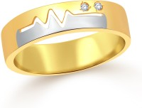 Classic Heart Beat Band CZ Gold Plated Ring For Women Size16 [CJ1097FRG16] Alloy Cubic Zirconia Yellow Gold 18 K Ring