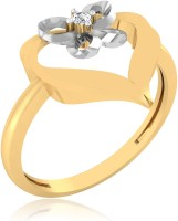 IskiUski Sparkle Heart Gold Yellow Gold Plated 14 K Ring