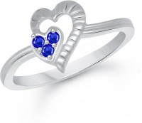 VK Jewels Tie Heart Alloy Cubic Zirconia Rhodium Plated Ring
