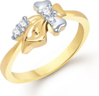 VK Jewels Alloy Cubic Zirconia 18K Yellow Gold Ring