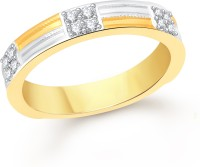 VK Jewels Two Tone Alloy Cubic Zirconia 18K Yellow Gold NA K Ring