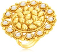 Sukkhi Glistening Designer Traditional Cocktail Gold Plated Alloy 18K Yellow Gold Ring