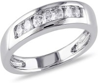 AG Jewellery Real Diamond Fashion SR0217 Sterling Silver Diamond Silver Ring