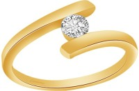 Ciemme 0.45 CT Solitaire Promise Engagement Ladies Sterling Silver Cubic Zirconia Ring
