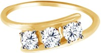 Jacknjewel Jacknjewel Excellent Diamond 18kt Yellow Gold Plated Silver Diamond Ring For Women Silver Diamond Yellow Gold Plated Ring
