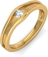 BlueStone The Moonlight Kiss Band Yellow Gold Diamond 14 K Ring