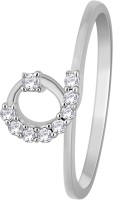 Glitz Design 0.12 CTW Outstanding-In-The-Loop 14kt Diamond White Gold Ring