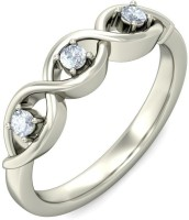 BlueStone The Triple Radiance White Gold Diamond 14 K Ring