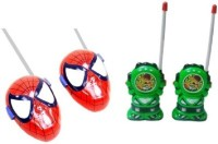 Toyoz Combo Of Ben-10 And Spider Man Walkie Talkie. (color May Vary)