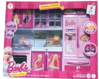 ToyTree Barbie 3 Set Beautiful Kitchen With Lights And Sound (color May Vary)