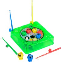 Simba Games & More Windup Fishing Game Set10x10cm Green (color May Vary)