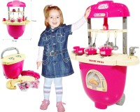 Smart Picks Battery Operated With Lights And Musics Kid's Trolly Kitchen Set (color May Vary)