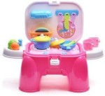 Xiong Cheng Role Play Toys Xiong Cheng Wot Kids Kitchen Pink