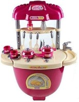 9Perfect Kitchen Pretend Play Battery Operated Toy Set Trolley With Lights And Musical Sounds For Kids
